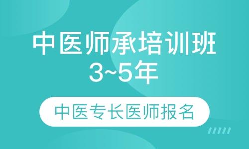 中医师承培训班(3~5年)中医专长医师